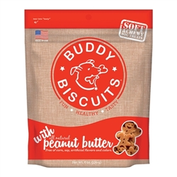Cloud Star Grain-Free Soft & Chewy Buddy Biscuits with Homestyle Peanut Butter Dog Treats, 5-oz. bag