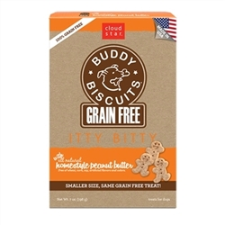 Cloud Star Grain-Free Itty Bitty Buddy Biscuits with Homestyle Peanut Butter Dog Treats, 7-oz. box