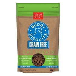 Cloud Star Grain-Free Buddy Biscuits with Tender Chicken Cat Treats, 3-oz. bag