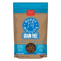 Cloud Star Grain-Free Buddy Biscuits with Tempting Tuna Cat Treats, 3-oz. bag