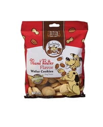 Exclusively Pet Wafer Cookies Peanut Butter Flavor Dog Treats 8oz.