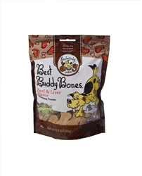 Exclusively Pet Best Buddy Bones Beef and Liver Flavor Dog Treats 5.5oz.