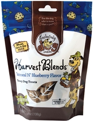 Exclusively Pet Harvest Blends Oatmeal and Blueberry Dog Treats 7oz.
