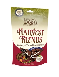 Exclusively Pet Harvest Blends Cranberry Carrot Dog Treats 7oz.