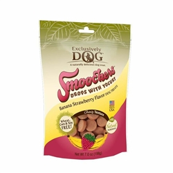 Exclusively Pet Smoochers Yogurt Drops Banana Strawberry Flavor Dog Treats 7oz.