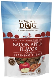 Exclusively Pet Training Treats Bacon and Apple Flavor 7oz.