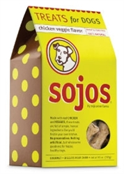 Sojo Dog Treat Chicken Veggie 10oz.