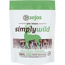 Sojos Dog Simply Wild Venison Treat 2.5 oz.
