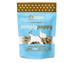 Sojos Dog Puppy Turkey Salmon Treat 2.5 oz..