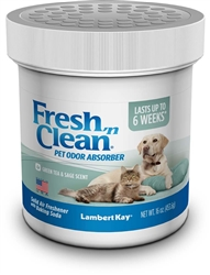 Lambert Kay Fresh 'n Clean Pet Odor Absorber Green Tea/Sage Scent 16oz.