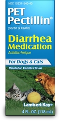 Lambert Kay Pet Pectillin Diarrhea Medication 4oz.