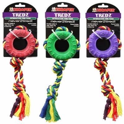 Chomper Tredz Rope/ Rubber Tire Tug &Toss