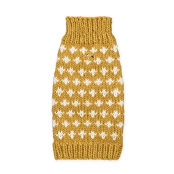 Cross Wool Knit Sweater - Mustard