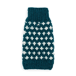 Cross Wool Knit Sweater - Teal