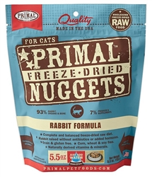Primal Pet Foods Freeze Dried Food For Cats  14oz Rabbit
