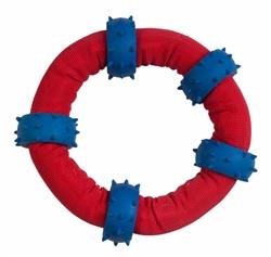 Chomper Gladiator Tuff Nylon Tossin Tug Ring w/ 5 Spike Rings