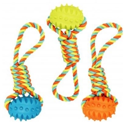 Chomper Rope Tugger w/ TPR Football