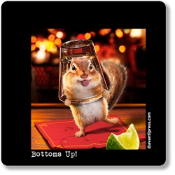 Bottoms Up! Coaster