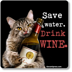 Save Water. Drink Wine. Coaster