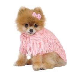Light Pink Dog Sweater with Scarf