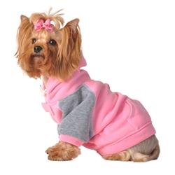 Pink & Grey Hoodie