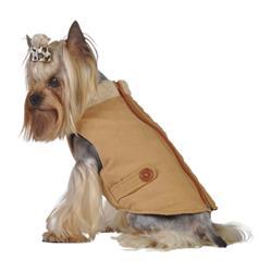 Faux Suede Puffer Vest