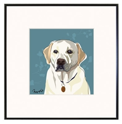 Framed Print: Lab, Yellow Face
