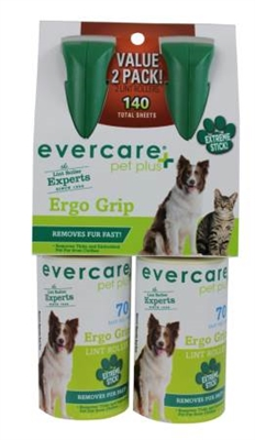 Evercare Pet Plus Pet+ Extreme Stick Plus Lint Roller w/ Ergo Grip Handle