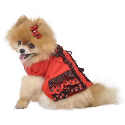 Red Daisy Ruffle Dress