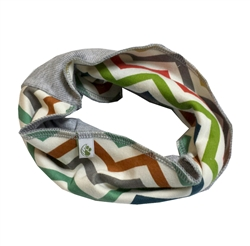 Colorblock Infinity Scarf - Multi Chevron