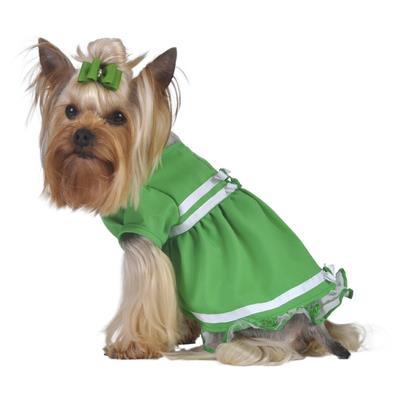 Emerald Green Ribbon & Tulle Dress