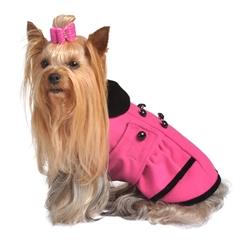Pink Peplum Coat