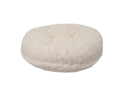 Cream Rosebud Round Bed
