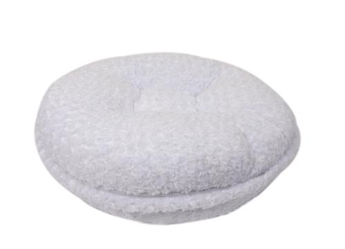 White Rosebud Round Bed