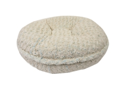 Baby Blue and Beige Rosebud Round Bed