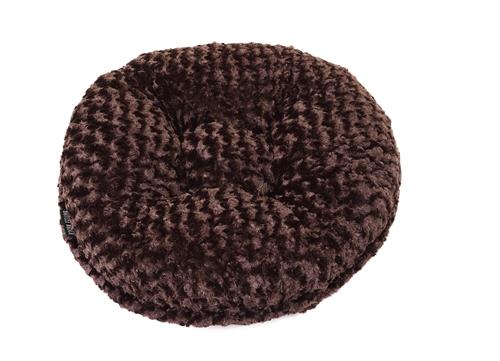 Chocolate Rosebud Round Bed