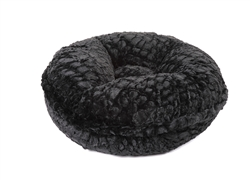 Black Crocodile Round Bed