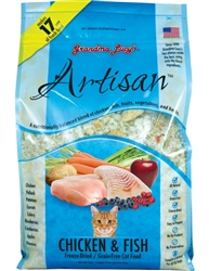 Grandma Lucy's Artisan CAT Chicken & Fish Grain Free Cat Food 1 Pound