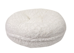 White Crocodile Round Bed -