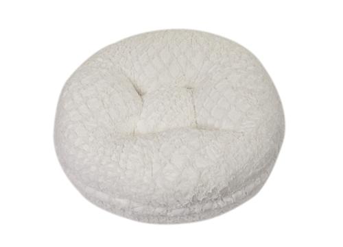 White Crocodile Round Bed -