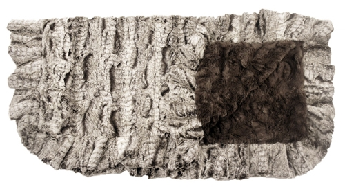 Gator Mink and Grey Mink Ruffled Blanket - COPY