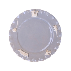 Cat Whisker Plate - French Grey