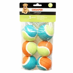 "Chomper 2.5"" Tennis Ball in Normal Quality 6 pk"