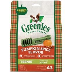 Greenies Dental Chews Pumpkin Spice 12oz. LIMITED EDITION