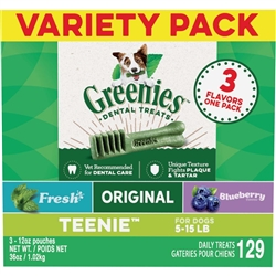 GREENIES Variety Pack 36oz (Fresh/Original/Blueberry)