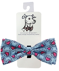 Mod Blue Hearts Bow Tie by Huxley & Kent