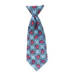 Mod Blue Hearts Long Tie by Huxley & Kent