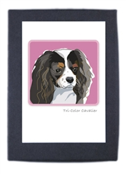 Cavalier, Tricolor - Grrreen Boxed Note Cards