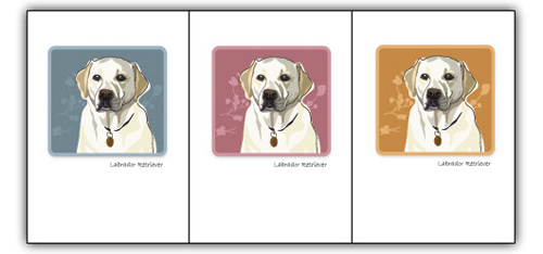 Lab, Yellow Face - Grrreen Boxed Note Cards