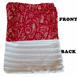 Luxurious Plush Blanket Red Holiday Whimsy